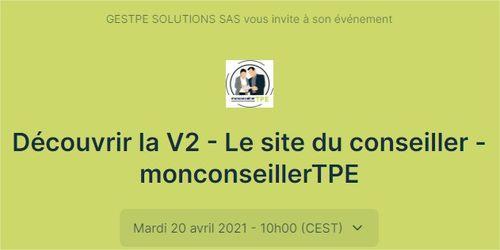 Webinar Le site du conseiller - monconseillerTPE V2 - Vous inscrire