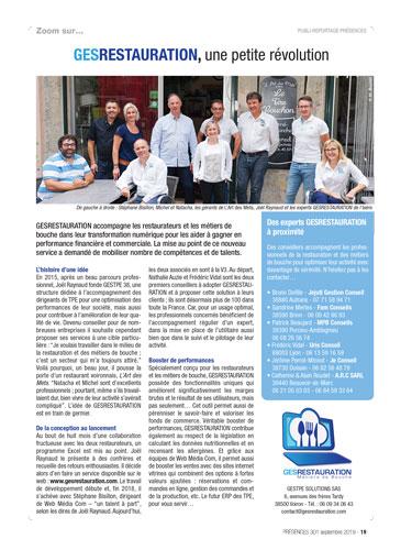 Article PRÉSENCE 301 - CCI de l'Isère - Page 19 - Sept 2019